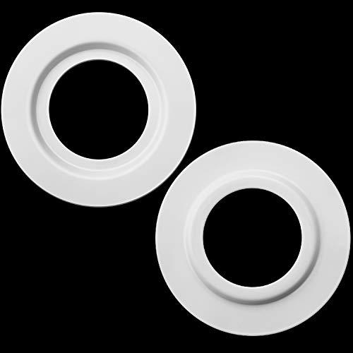 Anello di Riduzione Lampada in Metallo Bianco dell'Ombra per ES/E27 To BC/B22 Convertitore dell'Adattatore Rondella del Paralume della Lampada della Luce della Piastra (2)