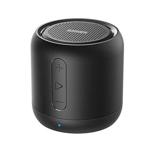 Anker Cassa Bluetooth Tascabile SoundCore Mini - Altoparlante Bluetooth Super-Portatile con Bassi Potenti, Raggio di Connessione Bluetooth e Guida Vocale per iPhone, iPad, Samsung, Huawei e Altri
