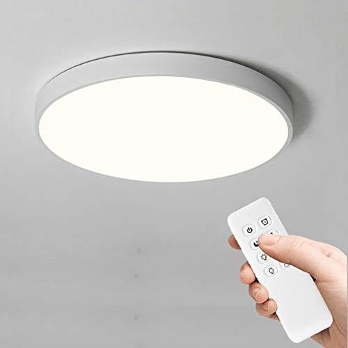 Anten Dimmerabile Plafoniere da Soffitto, 24W 2400LM LED Lampada Tondo Sottile Plafoniera per Cucina, Bagno, Camera da Letto, Corridoio, Cantina, Ufficio, Ø30cm, IP40
