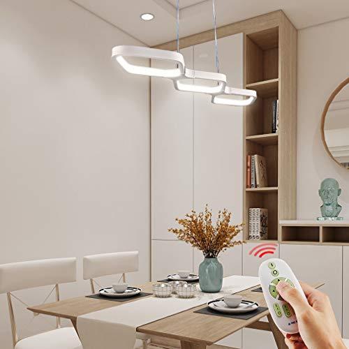 Anten Lampada a Sospensione LED da 30W, Lampadario Dimmerabile, Plafoniera da Soggiorno, Illuminazione da Soffitto con Telecomando, Ideale per Sala da Pranzo, Cucina, Soggiorno