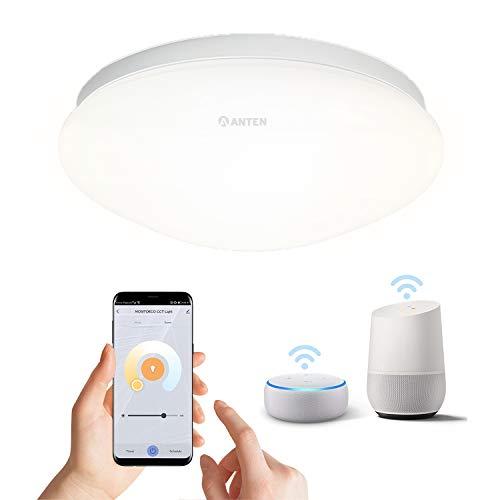 Anten Plafoniere LED da soffitto 24 W dimmerabili e cambio di temperatura di colore tramite telecomando,per soggiorno della cucina della camera da letto, 3000 K-6000 K