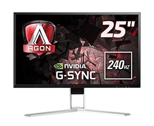"AOC AGON AG251FG Monitor Gaming da 24.5"", FHD, 1920 x 1080, 240 Hz, 1 msec, Speaker, HDMI, DP, 4 Porte USB, Nero"