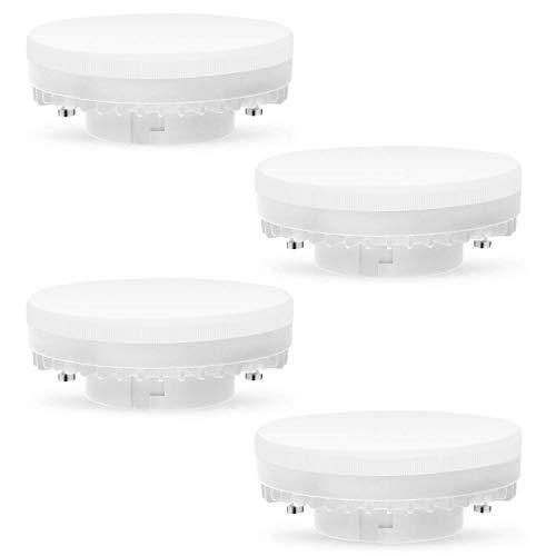 Aourow Lampada LED GX53 3000k 7W,Lampadina LED Bianco Caldo,Non Dimmerabile,Senza Sfarfallio,Sostituisce Lampadine Alogene 50W o CFL 13W,560Lumens,3000K,120 Gradi,GX 53 LED Lampada,Confezione da 4