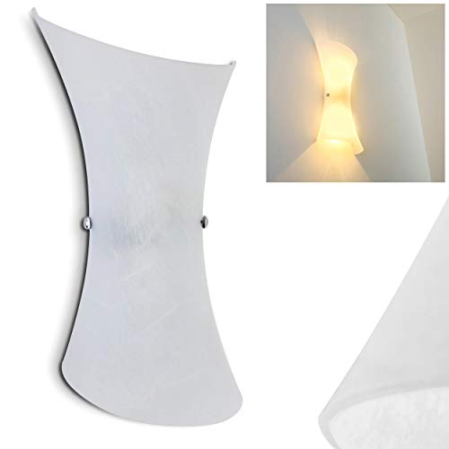 Applique da Parete interni stile contemporaneo- Lampada da parete moderna in Vetro- Luce ideale come Applique Camera