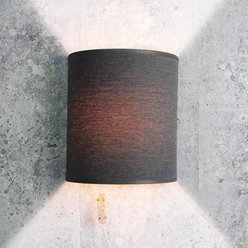 Applique in tessuto grigia con cavo elegante moderna lampada da parete loft ALICE