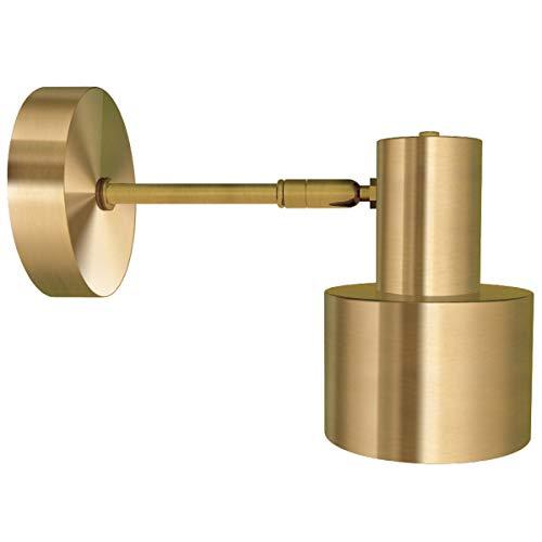 Applique industriale vintage, Applique antica con paralume d'oro per soggiorno, lampada da parete, Luce industriale retrò creativa deco