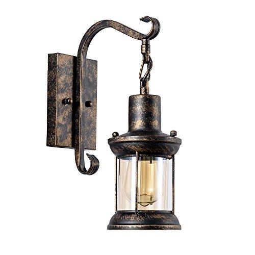 Applique Vintage Glass Cover Applique Industriale in Metallo Lampade Da Parete Interno Lampade Rustiche E27 per Bar Caffè Hotel Ristorante Loft e Cucina (Bronzo a olio)
