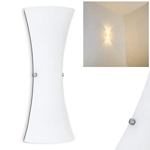 Applique Zimbo- Lampada a Muro in Vetro Design Lineare Elegante- Luce Up-Down Bidirezionale Ideale per Camera da Letto Salotto Scale Ingresso-