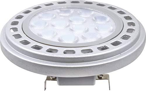AR111 - Lampadina a LED 12 W G53, 4000 K, bianco neutro, 12 V, 900 lm, colore: Argento