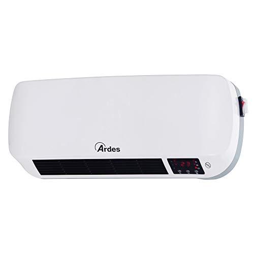 Ardes AR4W03P Week Termoventilatore Ceramico da Parete, Display Digitale e Programmatore Settimanale, Timer 12 H, con Telecomando, Bianco