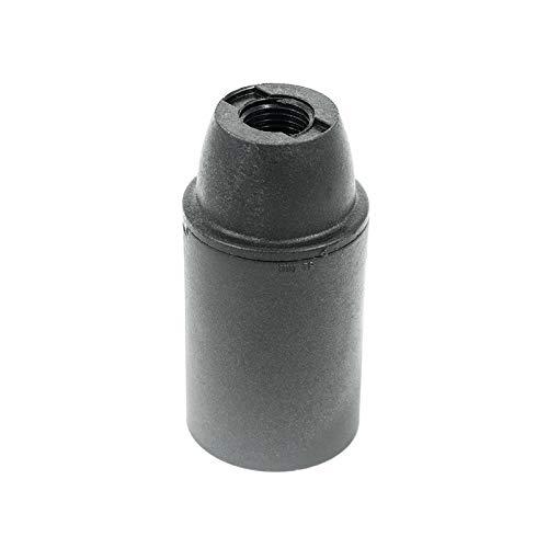 Arditi Portalampade Liscio in Termoplastico in Tre Pezzi con Attacco E14, Nero