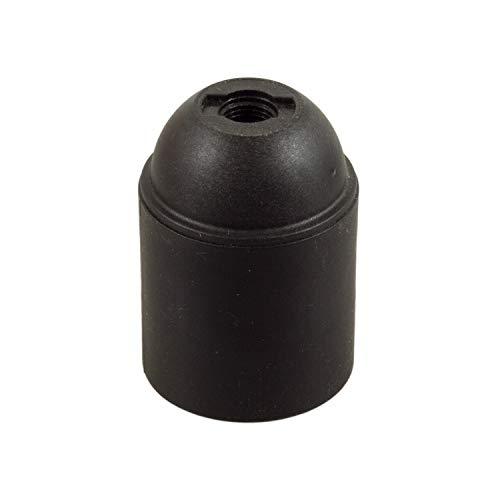 Arditi portalampade liscio in termoplastico nero con attacco E27