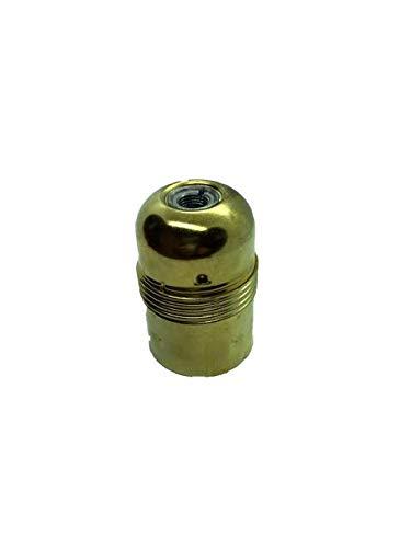 Arditi portalampade metallico ottonato con attacco E27, liscio in tre pezzi