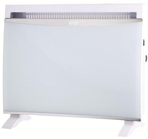 Argoclima Glam White Termoconvettore Elettrico con Pannello Vetro, 1500 W, Vetro, Bianco