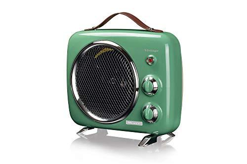 Ariete 808, Termoventilatore Vintage, Freddo e Caldo, Termostato regolabile, Maniglia per facile trasporto, 2000 W, Verde