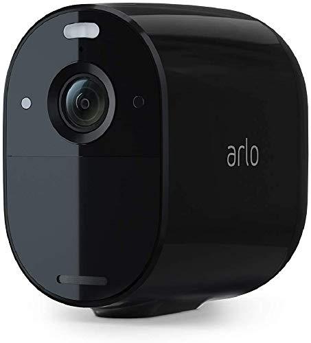 Arlo Essential Spotlight VMC2030B, telecamera sorveglianza Wifi senza fili, 1080p, Visione notturna a colori, Audio 2 vie, interno/esterno, Faro e sirena integrati, non richiede Base Arlo, nera