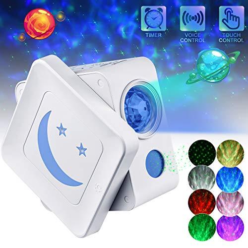 AsperX LED Lampada Proiettore 3 in 1 Regolabile Stellato Proiettore con Spegnimento Automatico Timer per Camera dei Bambini/Famiglia Come Perfetto Compleanno Regali per le Vacanze di Natale