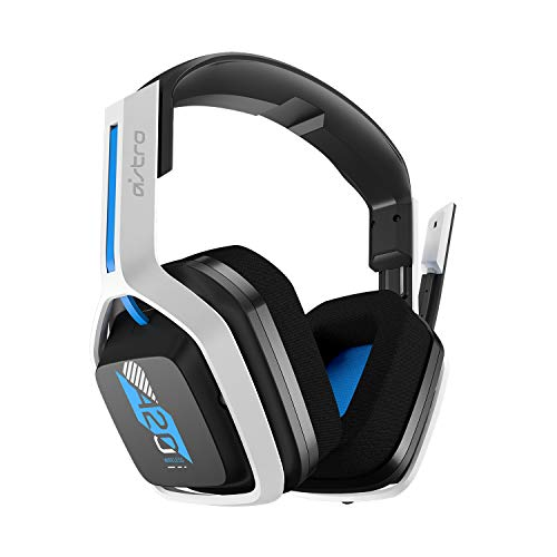ASTRO Gaming A20 Cuffia Gaming Wireless, Gen 2, per PlayStation 5, PlayStation 4, PC e Mac - Bianco / Blu
