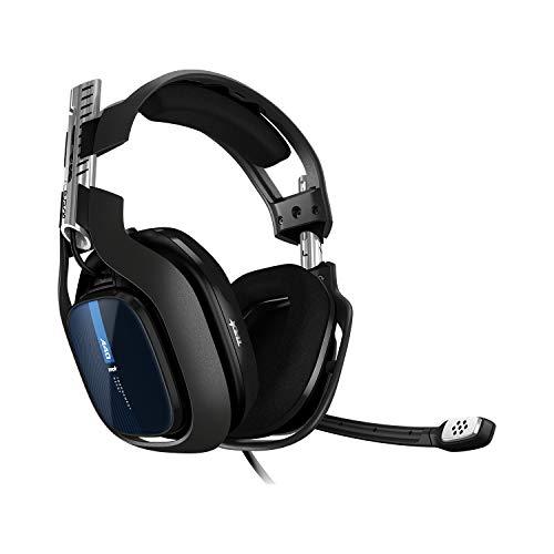 ASTRO Gaming A40 TR Cuffie da gioco cablate, Astro Audio V2, Dolby Audio, Microfono intercambiabile, Controllo bilanciamento gioco/voce per PS4, PC-MAC, XBOX - Nero / Blu