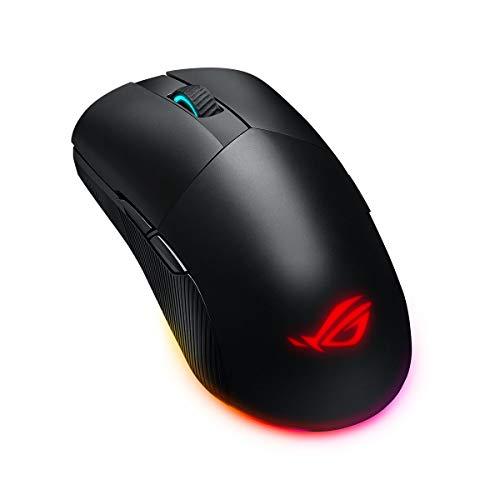 ASUS ROG PUGIO II Mouse Gaming RGB ottico Wireless, Bluetooth, USB, ambidestro, 16.000 DPI, 7 pulsanti programmabili, pulsanti laterali configurabili, illuminazione Aura Sync