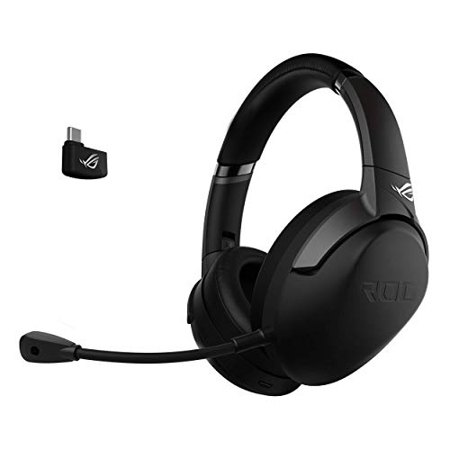 ASUS ROG Strix GO 2.4 Cuffia Gaming Wireless a 2.4 Ghz, Cavo Type C e Jack da 3.5, Cancellazione del rumore, PC, Mac, Nintendo Switch, Xbox and PS4.