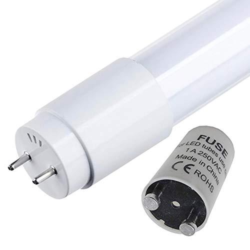 Atomant - Set di 2 lampadine a LED da 60 cm, 9 W, colore bianco freddo 6500 K, T8 standard (sostituisce fluorescente da 18 W) 870 lumen reali LED inclusi