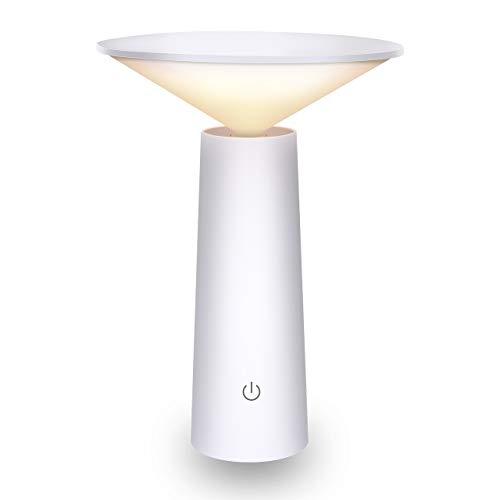 Atsui Lampada Tavolo 36LED USB, Lampada Ricaricabile con 180° Girevole+3 Colore di Luce+Regolazione della luminosità ILLIMITATA per Bambini, Controllo Tattile, Lampada Tavolo con Efficienza Energetica