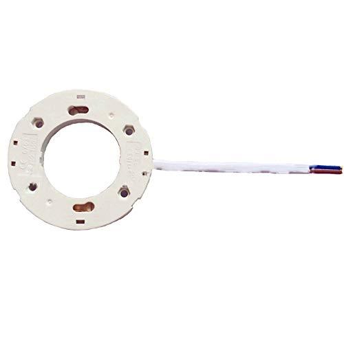 Attacco GX53 per lampadine a LED CFL, attacco con filo da 150 mm per lampadine a LED GX53 e CFLs, colore: bianco, Bianco