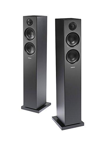 Audio Pro Addon T20 Altoparlanti a torre con Bluetooth (1 coppia con telecomando in alluminio, 2 x 60W) Nero