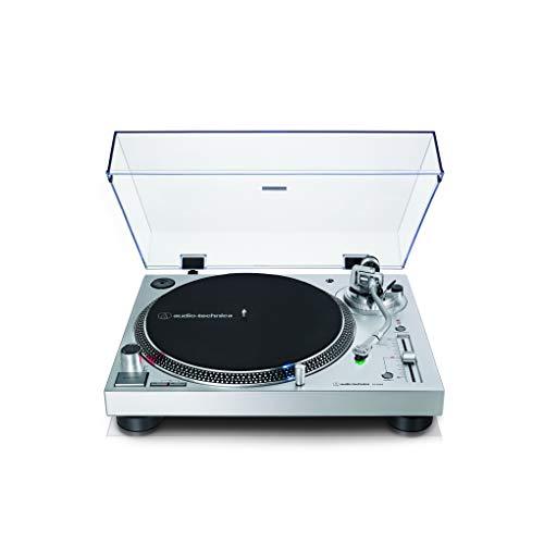 Audio-Technica AT-LP120X Giradischi a Trasmissione Diretta, Argento, Analogico e USB