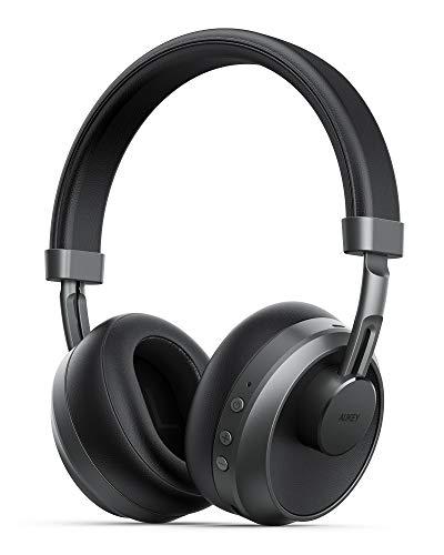 AUKEY Cuffie Bluetooth Cuffie Over Ear con Microfono Incorporato, Driver Speaker Dinamici da 40 MM, Type-C Hi-Fi Suono e Bassi, 25H Cuffie Wireless per Corso Online, Cellullari, TV, PC