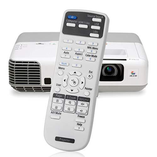 AuKing Telecomando del Proiettore per Epson 1547200 EB-S02 S02H EB-S11 EB-S110 EB-S11H EB-S12 EB-W01 EB-W02 EB-W12 EB-X02 EB-X11 EB-X11H EB-X12 EB-X14 EB-X15 EB- 420 425W 430 435W 470 475W 480 485