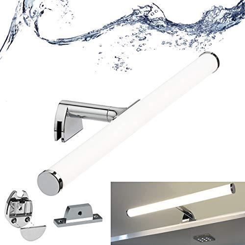 BarcelonaLED - Lampada da bagno a specchio a LED, 7 W, 40 cm, impermeabile IP44, luce trucco bianca neutra 4000 K, per mobile o parete 3 in 1