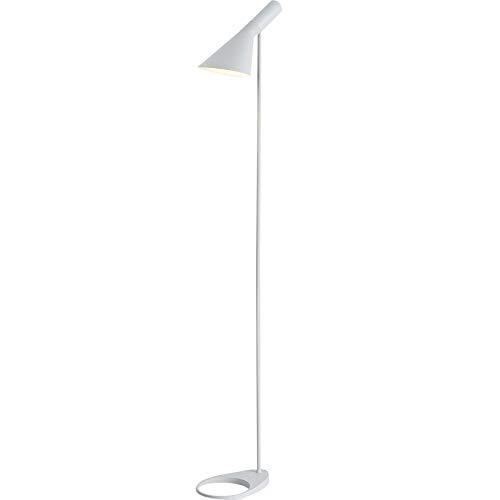 BarcelonaLED Piantana Lampada da Terra LED Design Moderno in Metallo Nordico Bianco con Attacco E27 Interruttore a Pedale per Interna da Pavimento Soggiorno Salotto Studio