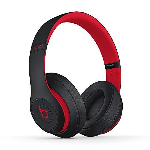 Beats Studio3Wireless Cuffie con cancellazione del rumore – Chip per cuffie AppleW1, Bluetooth di Classe 1, cancellazione attiva del rumore, 22 ore di ascolto–Nero/Rosso (Ribelle)