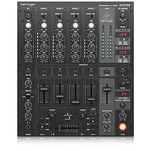 Behringer Pro Djx750 Mixer Digitale 5 Canali Con Effetti