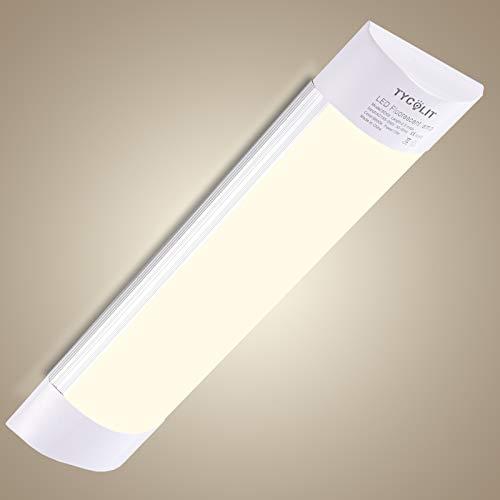 Bellanny Plafoniere led a soffitto 40W, 120cm/4800LM Ultraslim Plafoniera LED, 3000K Bianco caldo Lampada da Soffitto, plafoniere per Officina Garage Ufficio Supermercato Cucina