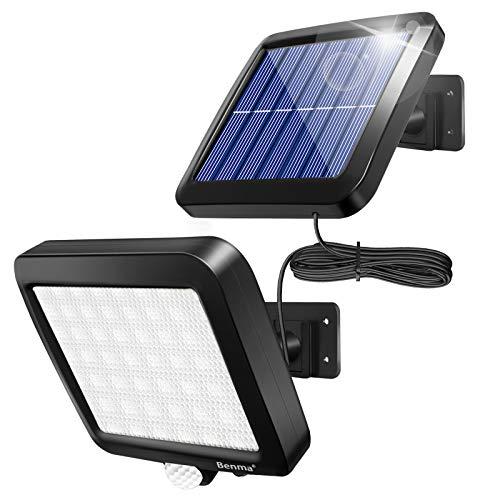 Benma Lampade solari da esterni, luci solari, Lampade da parete per esterni, luci solari da giardino con sensore di movimento, angolo di illuminazione 120°, 5 m, [Classe energetica A+++]