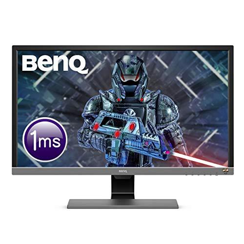 """BenQ EL2870U Monitor Gaming LED UHD-4K (risoluzione 3840 x 2160), 28"""", 1 ms, HDR Eye-Care, Pannello TN, Altoparlanti, 2 x HDMI (v2.0); 1 x DP (v1.4), HDRi, Grigio Metallizzato"""