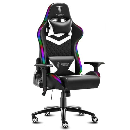 Berserker Gaming - Sedia da gaming, schienale 85 x 55 cm, sedia: 53 x 54 cm, altezza: 126-136 cm
