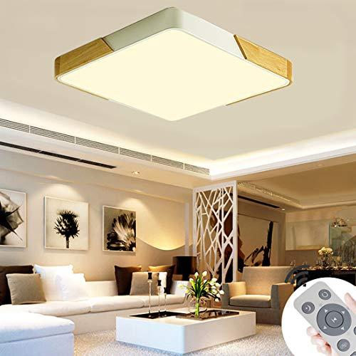 BFYLIN 72W Dimmerabile LED luce di soffitto lampada moderna del soffitto disimpegno camera da letto della lampada salotto energetico cucina risparmio di luce (Legna Bianca-60W Piazza)