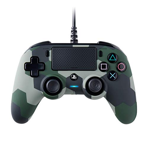 BigBen Interactive Nacon Compact Controller Camogreen con Cavo - Licenza Ufficiale Sony PlayStation - PlayStation 4