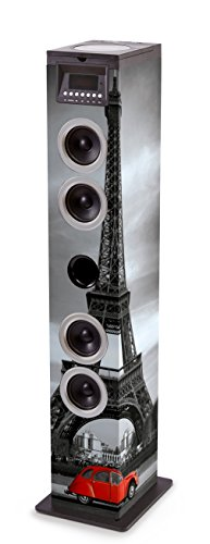 Bigben Interactive TW12CDPARIS3 Sistema Audio 2.1 con Radio, Paris2, Multicolore