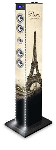 "BigBen-TW6PARISBTLIGHT1 Bluetooth Torre multimediale, luce LED bianca"""