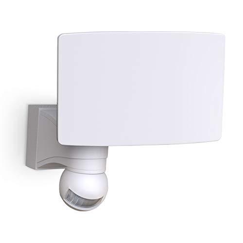 B.K.Licht Faro LED esterno con sensore di movimento e crepuscolare, luce bianca naturale 4000K, luce di sicurezza con accensione automatica, 20W, IP44, lampada da parete, faretto bianco 230V