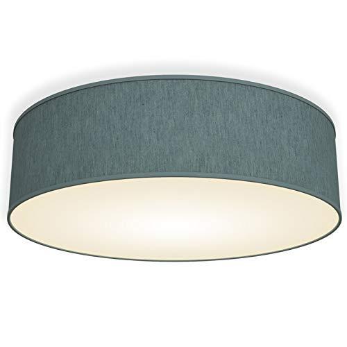 B.K.Licht Lampadario da soffitto, diametro 40cm, lampada da soffitto per l'illuminazione da interno, forma rotonda, petrolio-grigio, montaggio lampadina E14, 230V, IP20