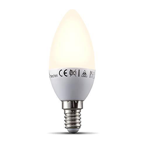 B.K.Licht Lampadina LED smart E14, dimmerabile con App smartphone, luce calda 2700K, adatta al controllo vocale Amazon Alexa, Google Home, lampadina Wi-Fi 5.5W 470Lm, attacco piccolo E14