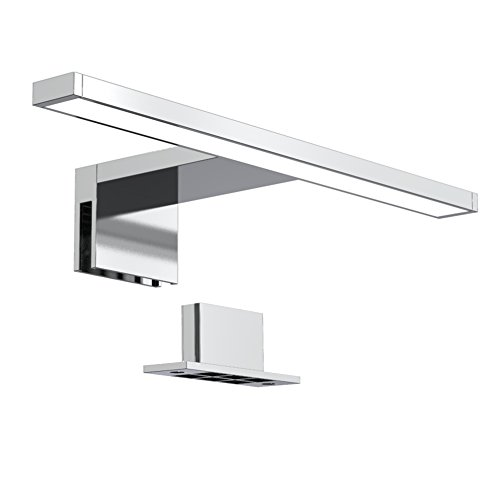 B.K.Licht Luce da specchio LED, luce bianca neutra 4000K, larghezza 30 cm, lampada per bagno, luce per trucco, illuminazione armadietto, 5W 230V IP44