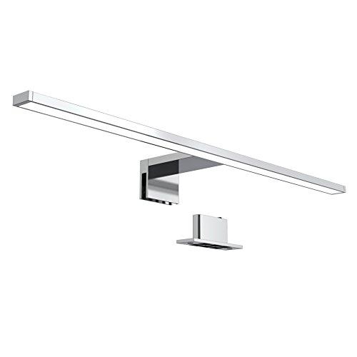 B.K.Licht Luce da specchio LED, luce bianca neutra 4000K, larghezza 60 cm, luce per bagno, luce per trucco, lampada per bagno, illuminazione armadietto bagno, 8 W, 780 Lm, 230 V, IP44