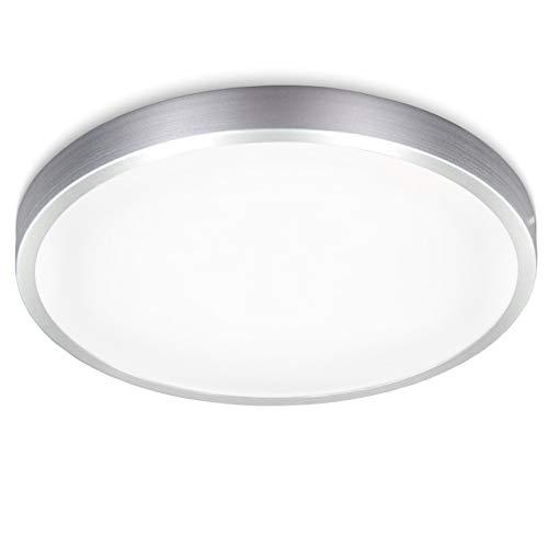 B.K.Licht Plafoniera LED, luce bianca naturale 4000K, 1500Lm, LED integrati 15W, diametro 29cm, lampada da soffitto moderna per cucina, salotto o camera da letto, plastica, IP20, 230V